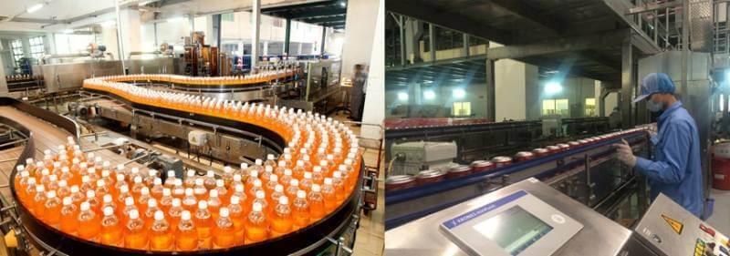quy trình sản xuất thực phẩm nước giải khát