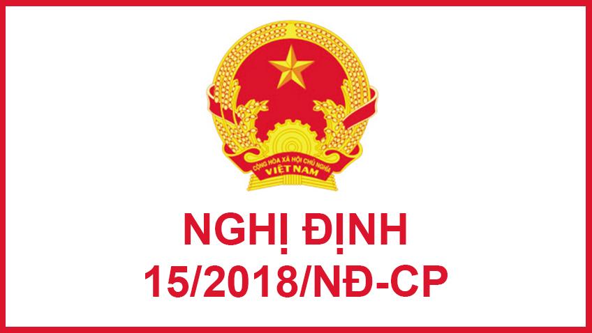 nghị định 15/2018/NĐ-CP