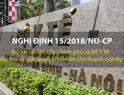 Nổ lực ban hành nghị định 15/2018/NĐ-CP của Bộ Y Tế