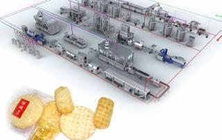 dây chuyền sản xuất bánh gạo