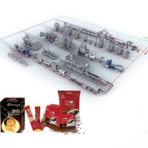 dây chuyền sản xuất cà phê hòa tan