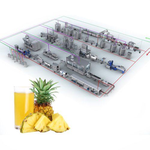 dây chuyền sản xuất nước dứa