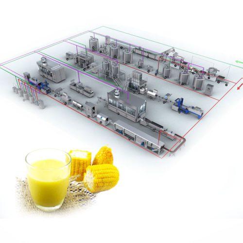 dây chuyền sản xuất sữa bắp