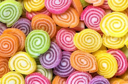 kẹo cuộn đường pectin trái cây