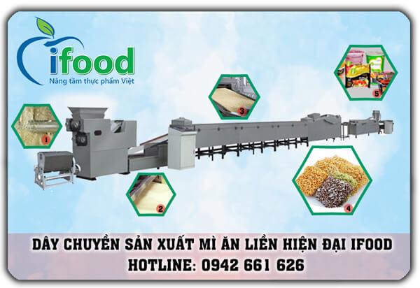 phương án và lắp đặt dây chuyền sản xuất mì ăn liền