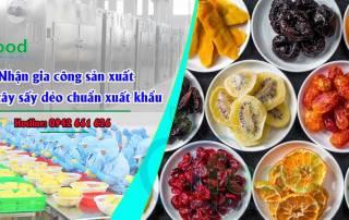 Nhận gia công sản xuất trái cây sấy dẻo chuẩn xuất khẩu