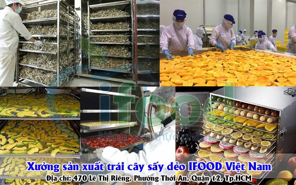 Xưởng sản xuất trái cây sấy dẻo IFOOD