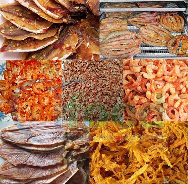 gia công sản xuất hải sản sấy khô