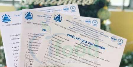 Mẫu giấy chứng nhận kiểm nghiệm sản phẩm